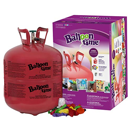 Unbranded Disposable Jumbo Helium Tank, 50 Balloons Included -