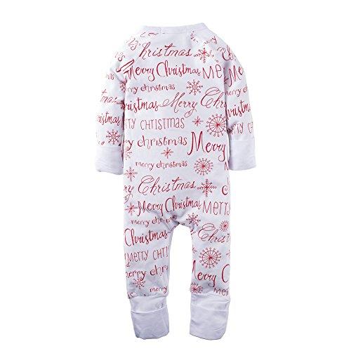 Big Elephant Baby Boys'1 Piece Merry Christmas Zipper Closure Long Sleeve Romper Pajama M06