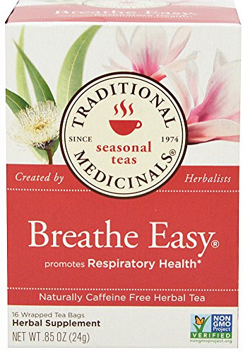 Traditional Medicinals Breathe Easy Tea, 16 Count (Best Tea For Asthma)