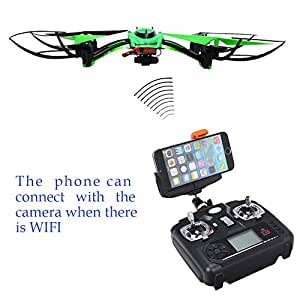 Annong Rc Quadcopter RTF W/ 1.3 MP HD Camera F802c-WIFI Image Transmission 2.4 4ch 6-axis Gyro Super Stable (Green)