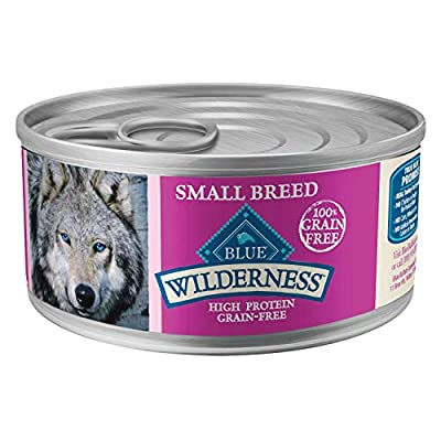 Blue Buffalo Wilderness Grain Free Small Breed Turkey and Chicken Grill Canned Dog Food 5.5oz, case of 24