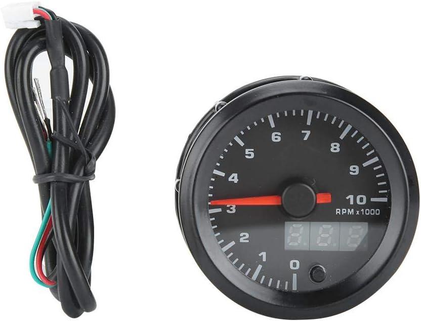 Auto Digitalanzeige Schrittmotor Drehzahlmesser Qii lu 52mm//2.0in Auto Drehzahlmesser