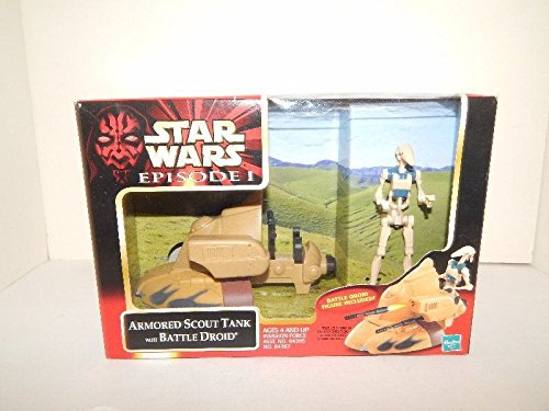 Trade Federation Armored Assault Tank - Qiyun Star Wars Episode 1 Armored Scout Tank with Battle Droid Figure MISB A 076930843673