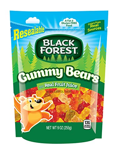 Black Forest Gummy Bears Candy, 9 Ounce Bag, Pack of - Forest Bears Gummi Black