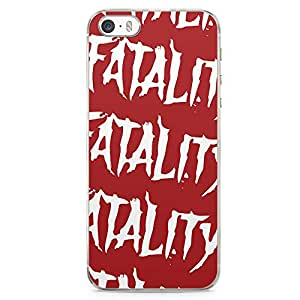 Loud Universe Fatality Mortal Kombat iPhone SE Case Gamers Fatality iPhone SE Cover with Transparent Edges