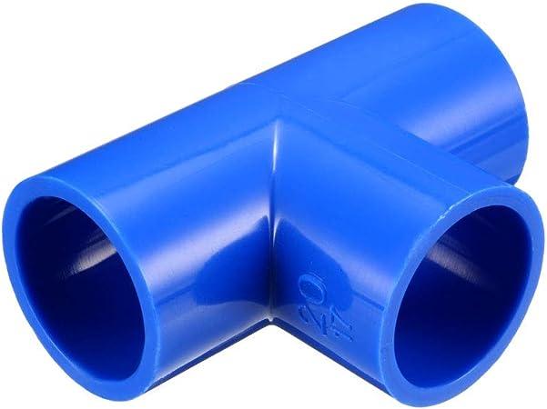 6 unidades tapas de extremo deslizante DWV sourcing map Montaje de tapa de tubo de PVC de 40mm Drenaje, residuos, ventilaci/ón Blanco