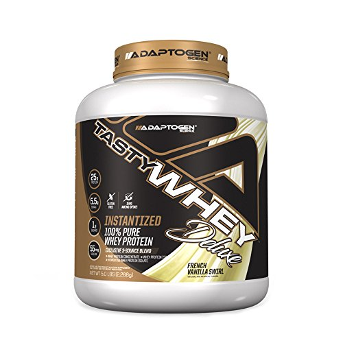 Tasty Whey Deluxe 5lbs - Adaptogen Science - French Vanilla Swirl