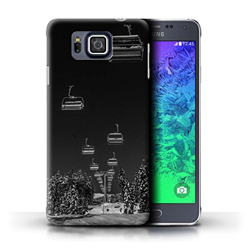 Alpha Lift Ram (STUFF4 Phone Case / Cover for Samsung Galaxy Alpha / Ski Lift Design / Skiing/Snowboarding Collection)