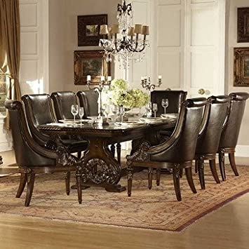 Amazoncom Homelegance Orleans 9 Piece Double Pedestal Dining
