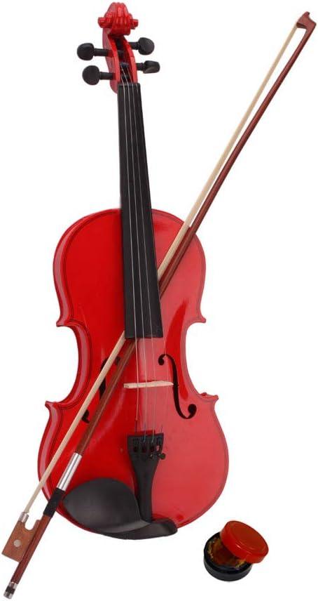 Pink Bow and Rosin Case LAGRIMA 3//4 Beginner Kid Violin Handcrafted Acoustic Violin Beginner Kit