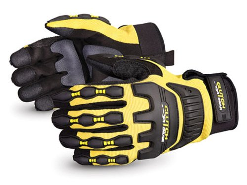 Pack of 1 Pair Work Superior MXVSB//L Clutch Gear PVC Anti-Impact Mechanics Glove Large