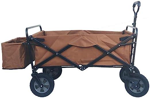 TYUIO Heavy Duty Plegable Plegable del Carro de jardín Utilidad de Carro por Compras al Aire Libre (Rojo) (Color : B): Amazon.es: Hogar