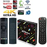 APES H96 MAX 64GB/4GB Dual Wifi 5G Bluetooth 4.1 Android 7.1 Quad Core 1080p 4K 3D Rockchip RK3328 TV Box Media Player + Air Mouse Backlight Wireless Keyboard Remote