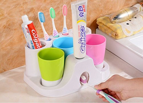 Family of three wash suit rack wash cup bathroom toothbrush holder toothpaste holder bathroom - Keep toothpaste kitchen ...