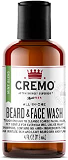 product image for Cremo Mint Blend Beard and Face Wash, Specifically Designed to Clean Coarse Facial Hair, 6 Oz