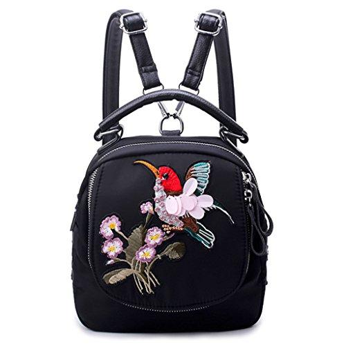 in a da forma nylon spalla donna a di Bookbags Zaino borsa viaggio KofunBorsa libellula B con da ricamo SEwUqf40pR
