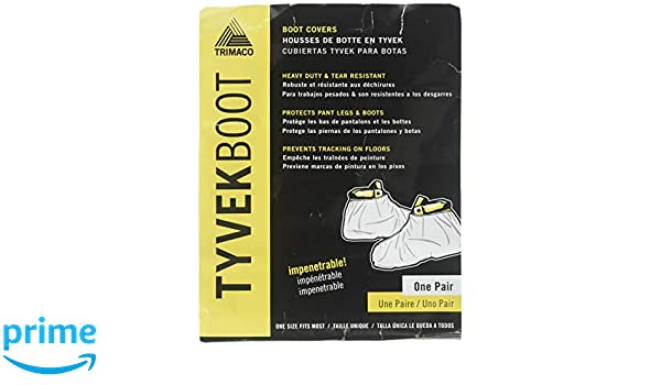 Amazon.com: Trimaco 04511/36 TYVEK Hi-Top Boot Guards Fits Most white: Home Improvement