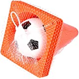 """7"""" SOCCER TRAINING SET(4 Orange Plastic Traffic Cones 1Mini Soccer Ball) Travel Sized for Parks, Fields, Schools, Beach, Lakes, Indoor, Garden, Outdoor-Great for learning the fundamentals of soccer"""