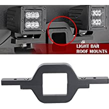 QuakeWorld Tow Trailer Hitch Mounting Mounts Light Bracket Fit Cube/Pod LED lights Backup Reverse Lights Rear Search Lighting Off-Road Work Light Bar Lamps For Truck SUV Trailer RV Pickups 4x4