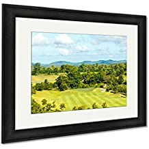 Ashley Framed Prints Sky Beautiful Golf Courses In Rayong Thailand, Office/Home/Kitchen Decor, Color, 30x35 (frame size), Black Frame, AG5856172