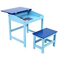 Childrens Kids Wooden Study Home Work Writing Reading Table Desk And Stool