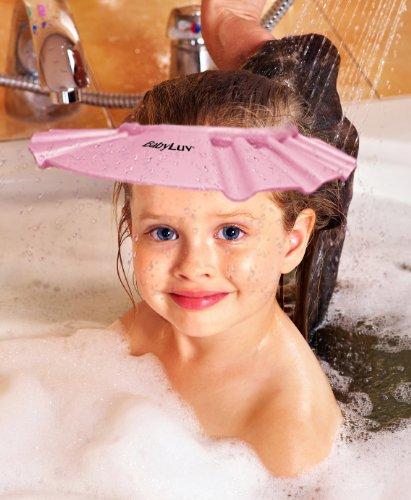 BabyLuv® confortable Bébé & Enfant Bain Douche Visor Cap - Taille réglable / Shields de shampooing et l'eau dans les yeux / No More Fussy Enfants et Bébés à Bath Time / utilisation pour la baignade, coupes de cheveux ou pour protection solaire (rose)