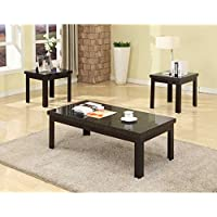 Milton Greens Stars 6638 3-Piece Amida Coffee and End Table Set, Faux Marble