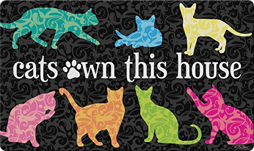 "Toland Home Garden 800428 It's The Cat's House Doormat, 18"" x 30"", Multicolor from Toland Home Garden"