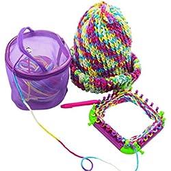 Sinfu Storage Bag Mesh Bag Portable Yarn Crochet Thread Organizer Tote (Purple)