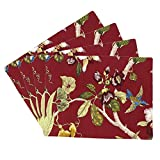 Xcellent Global Dining Table Placemats Home Dinner Decoration (Set of 4) Red HG160