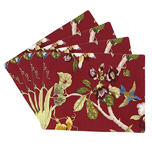 Xcellent Global Dining Table Placemats Home Dinner Decoration (Set of 4) Red HG160 by Xcellent Global