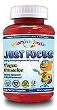 Vitamin Friends Just Focus PS Kids Vegan Gummies Supplements, Berry, 60 Count