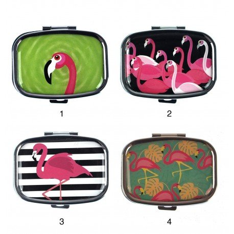 Kikkerland Flamingo Pill Box