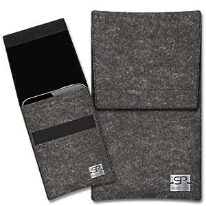 SIMON PIKE Cáscara Funda de móvil Sidney 1 antracita Samsung S5380 Wave Y Fieltro de lana