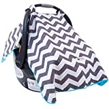 Carseat Canopy Cover, Doubles as a Convenient Breastfeeding or Shopping Cart Cover, Car Seat Canopy Accessories are a Perfect Baby Shower Gift for Baby Girls and Boys