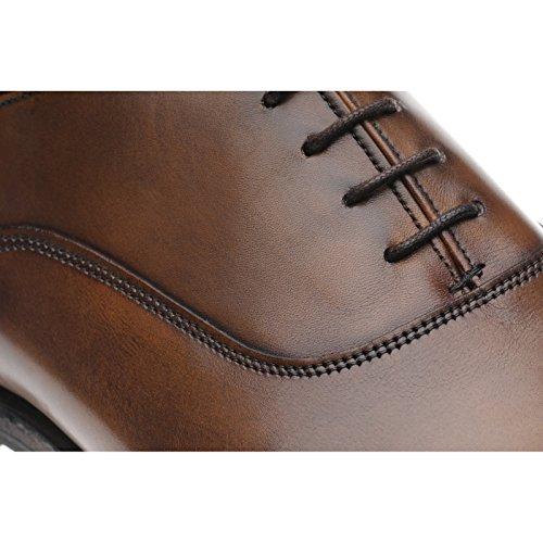Herring Herring Churchill Ii (Rubber) - Zapatos de cordones para hombre marrón marrón (mahogany)