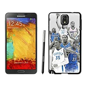 New Custom Design Cover Case For Samsung Galaxy Note 3 N900A N900V N900P N900T Oklahoma City Thunder Kevin Durant 6 Black Phone Case