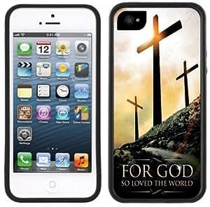 3 Cross Crosses Jesus Christian Handmade iPhone 5C Black Case