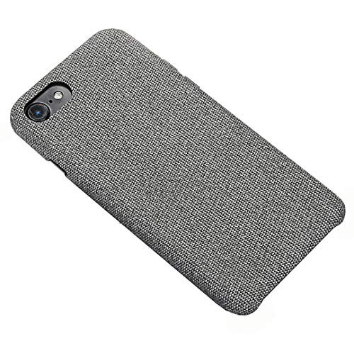 - BXKM iPhone 7 Case, iPhone 8 Case Cloth Fabric Back Cover Protective Case for iPhone 7/8 (Gray)