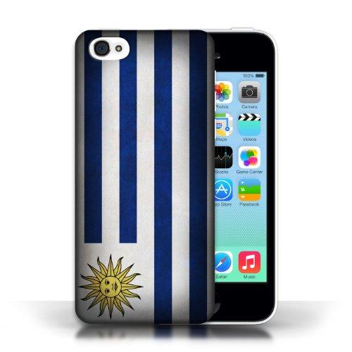 iCHOOSE Print Motif Coque de protection Case / Plastique manchon de telephone Coque pour Apple iPhone 5C / Collection Drapeau / Uruguay/Uruguayen