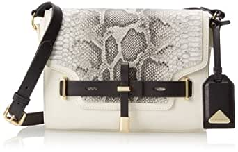 Vince Camuto Max Python Cross Body Bag,Vanilla/Safari Python Combo,One Size