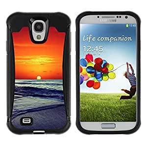 "Hypernova Defender Series TPU protection Cas Case Coque pour Samsung Galaxy S4 IV I9500 [Sunset Beautiful Nature 86""]"
