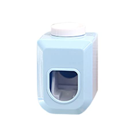 Steellwingsf - Dispensador de Pasta de Dientes automático para Baño o casa, Azul, Talla
