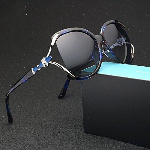 Para Gradual Gafas Rim Gradiente Lord Gafas De Posterior Gradual Sin Gafas Sobredimensionado Mujer Sol Púrpura Multi De Sol Para Polarizadas TIANLIANG04 Vintage Lentes Blue Semi De SqEwEY