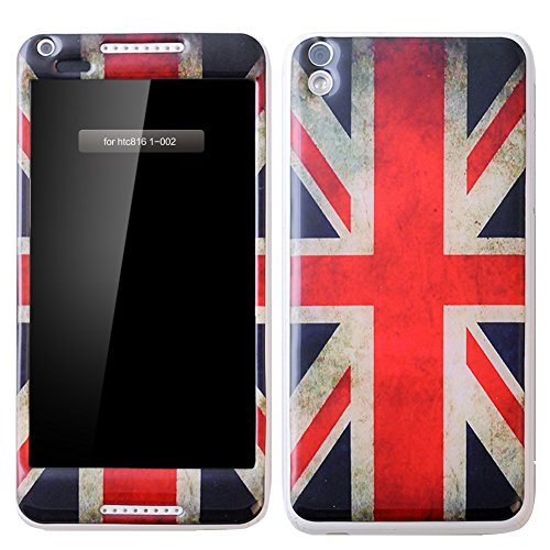 Seeme ultra-thin Soft Gel Gloss Skin Fit Case Cover for HTC Desire 816 (Fits All Carriers) Front - back 3D protection (UK)