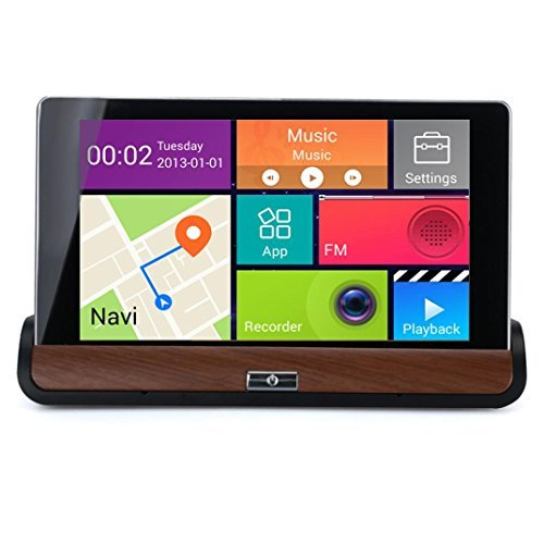 Koolee 7`` HD Android Car Video Recorder Navigator DVR Video Play WIFI Free Map + Backup Camera