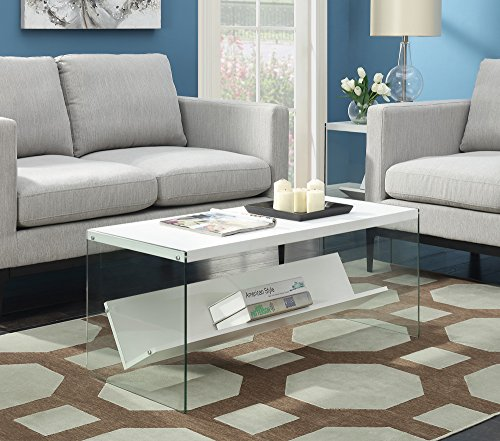 Convenience Concepts 131557W Coffee Table, White ()
