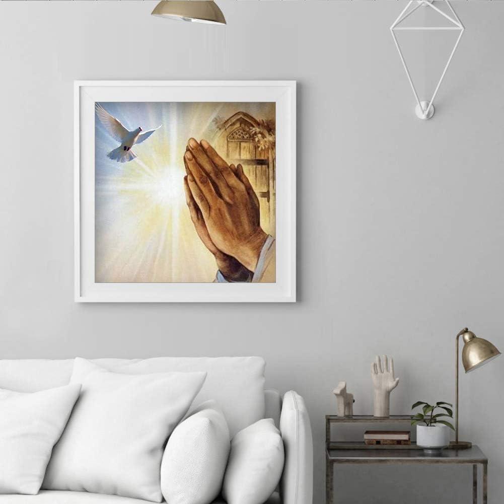 katsuya DIY Diamond Painting Praying Hands Dove Full Round Resin Rhinestone Picture
