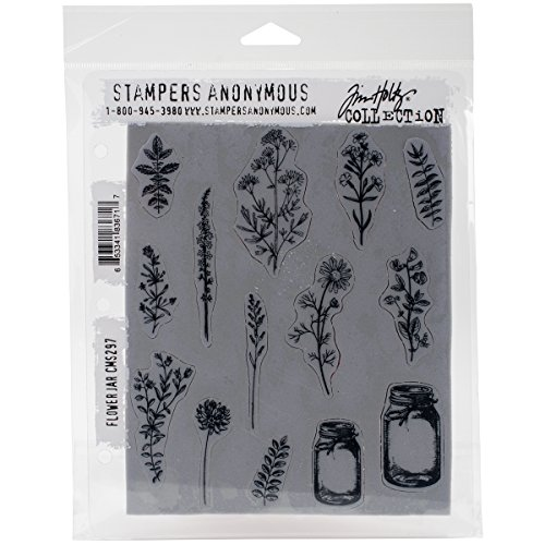 Tim Holtz Cling Stamps 7''X8.5''-Flower Jar by Stampers Anonymous
