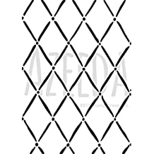 A3 'Harlequin and Dot Pattern' Wall Stencil / Template (WS00010575)